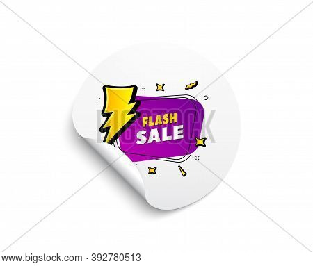 Flash Sale Banner. Circle Sticker With Offer Banner. Discount Sticker Shape. Coupon Bubble Icon. Rou