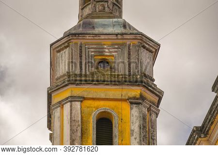 Mother Church. Baroque Style Architecture. Catholic Church Of The City Of Caçapava Do Sul In Brazil.