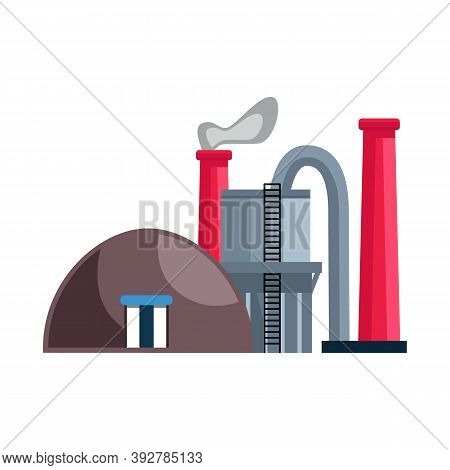 Vector Design Of Factory And Storage Icon. Set Of Factory And Production Vector Icon For Stock.