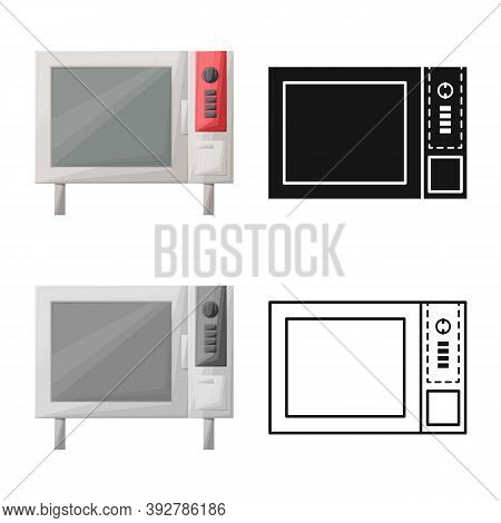 Vector Design Of Oven And Convection Icon. Web Element Of Oven And Microwave Vector Icon For Stock.
