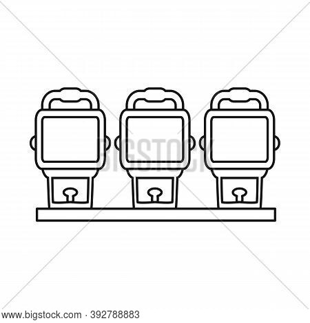 Isolated Object Of Spotlight And Projector Icon. Web Element Of Spotlight And Video Vector Icon For