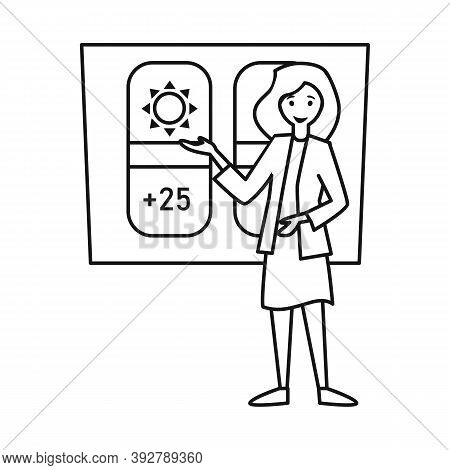 Isolated Object Of Anchorman And Weather Logo. Web Element Of Anchorman And News Vector Icon For Sto