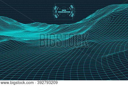 Big Data Visualization. Background 3d .big Data Connection Background. Cyber Technology Ai Tech Wire