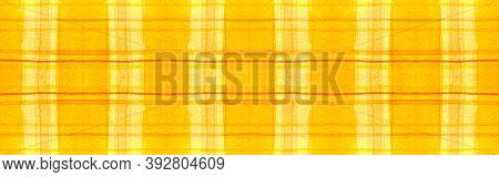 Summer Tartan Background. Watercolor Plaid Blanket. Color Geometric Stripes For Kilt Design. Seamles