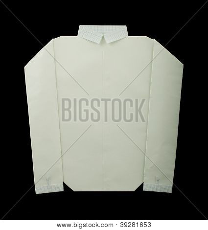 Isolated Paper Made White Shirt