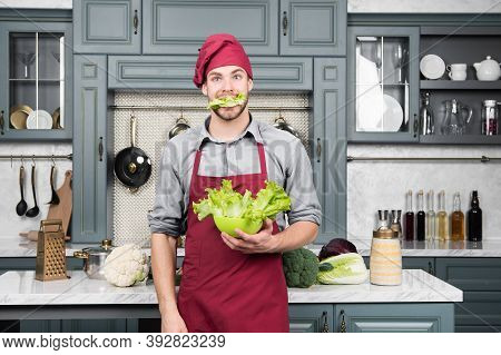 Leafy Vegetables Good Choice For Healthful Diet. Build The Perfect Salad. Green Salad Contains Many