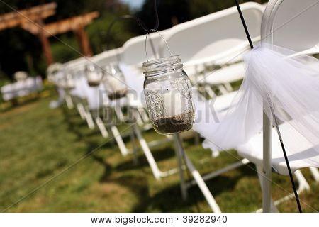 Detail of a Wedding Aisle