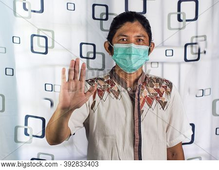 Health Care Medicine, Stop Virus Concept, Stop Pollition Concept, Stop The Spread Of The Virus And P