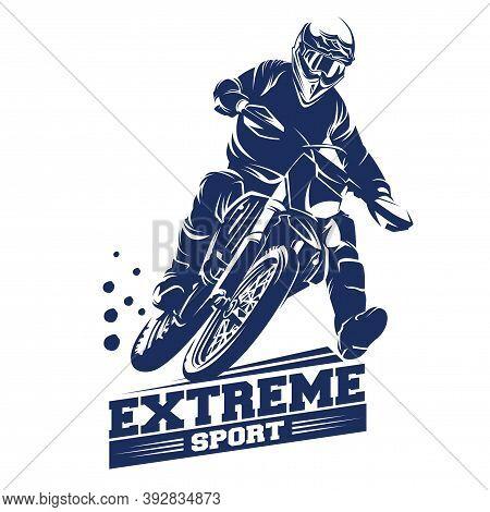 Motocross Jump Illustration,  Moto Track Logo Inspiration Vector