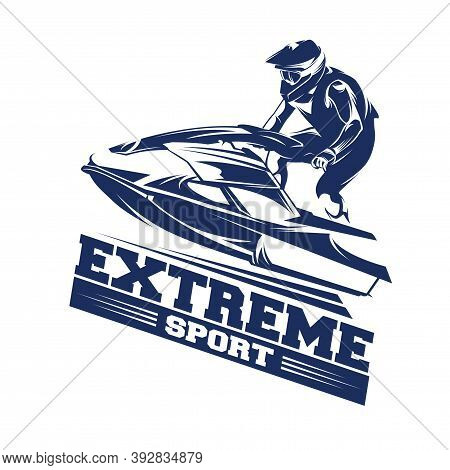 Jet Ski Sports Logo.  Jet Ski Sports Illustration  Vector