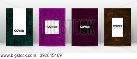 Abstract Cover. Favorable Design Template. Suminagashi Marble Hipster Poster. Favorable Trendy Abstr