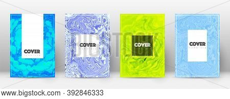 Abstract Cover. Energetic Design Template. Suminagashi Marble Hipster Poster. Energetic Trendy Abstr