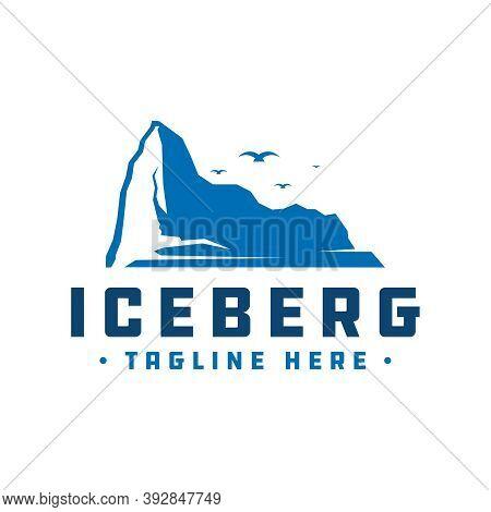 Antarctic Iceberg Vector Logo Design Or Brand