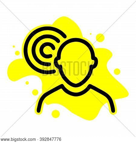 Ear And Ear Canal Outline Icon Image - Hearing Or Listening Loss