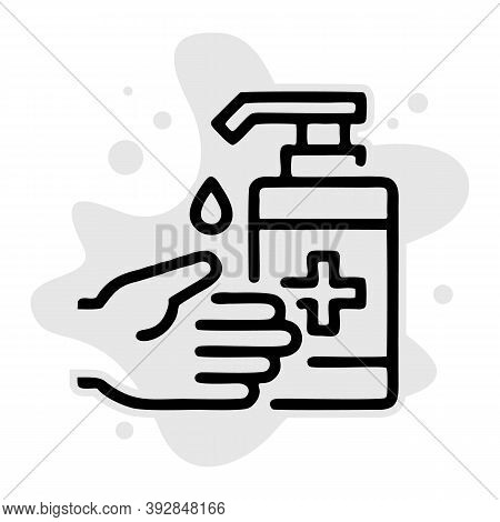 Hand Sanitizer Icon Isolated On White Background From Coronavirus Collection. Hand Sanitizer Icon Tr