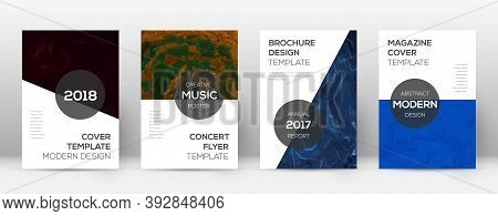 Abstract Cover. Incredible Design Template. Suminagashi Marble Modern Poster. Incredible Trendy Abst