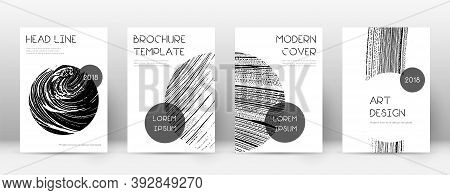 Cover Page Design Template. Trendy Brochure Layout. Classic Trendy Abstract Cover Page. Soap Invert