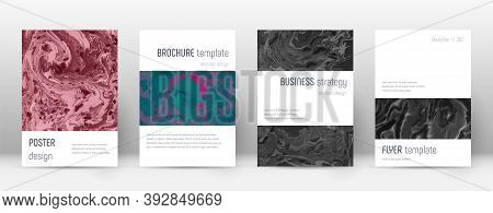Abstract Cover. Bizarre Design Template. Suminagashi Marble Minimalistic Poster. Bizarre Trendy Abst