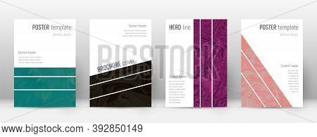 Abstract Cover. Remarkable Design Template. Suminagashi Marble Geometric Poster. Remarkable Trendy A