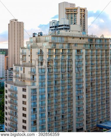 Large Hotel Complex In Popular Area Of Waikiki, Oahu, Hawaii
