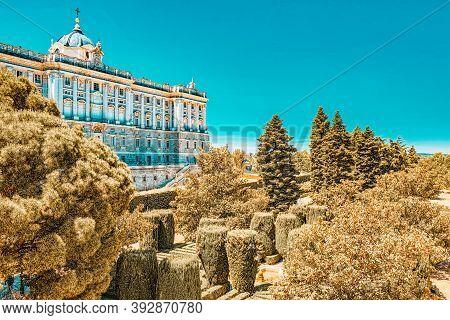 Sabatini Gardens (jardines De Sabatini) And Building Of   Royal