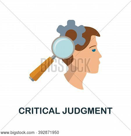 Critical Judgment Icon. Simple Element From Critical Thinking Collection. Creative Critical Judgment