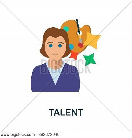 Talent Icon. Simple Element From Critical Thinking Collection. Creative Talent Icon For Web Design,