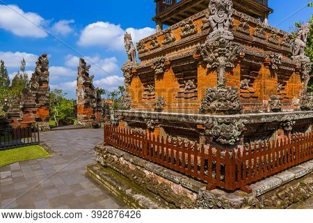 Taman Ayun Temple in Bali Indonesia - travel and architecture background