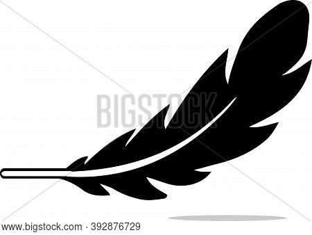 Feather Icon Isolated On Background , Vector, Weight, White, Wing