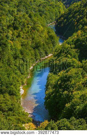 River Tara canyon - Montenegro - nature travel background