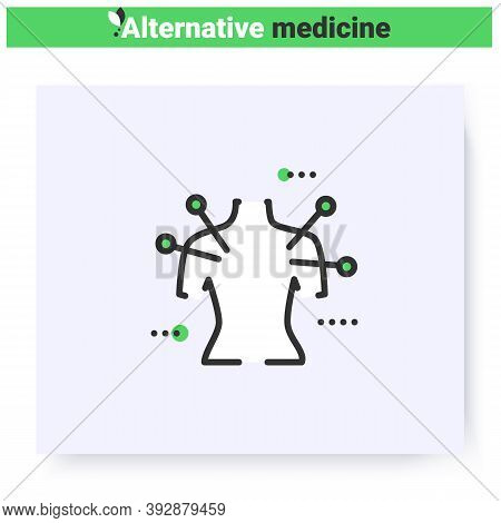 Acupuncture Line Icon.reflexology.traditional Chinese Medicine, Oriental Practise.health Care And We