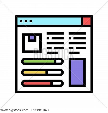 Product Information And Characteristics Color Icon Vector. Product Information And Characteristics S