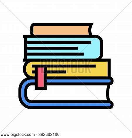 Reading Books Geek Color Icon Vector. Reading Books Geek Sign. Isolated Symbol Illustration