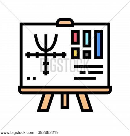Graphics Geek Color Icon Vector. Graphics Geek Sign. Isolated Symbol Illustration