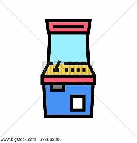 Slot Machine Geek Color Icon Vector. Slot Machine Geek Sign. Isolated Symbol Illustration