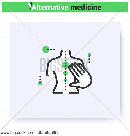 Chiropractic Line Icon. Osteopathic Medicine. Manual Therapy. Massage. Health Care And Wellness. Com