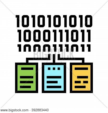 Files Encryption Color Icon Vector. Files Encryption Sign. Isolated Symbol Illustration