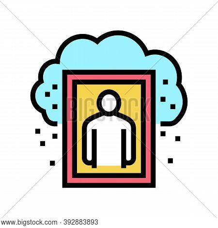 Human Missed And Nostalgia Color Icon Vector. Human Missed And Nostalgia Sign. Isolated Symbol Illus