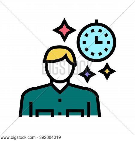 Human Nostalgia Color Icon Vector. Human Nostalgia Sign. Isolated Symbol Illustration