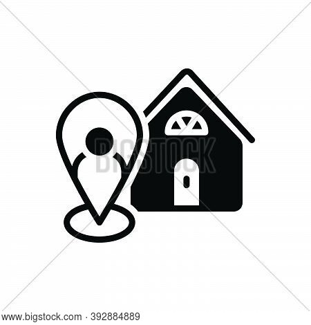 Black Solid Icon For Local Neighborhood Nearby Map Localization Indicator Marker