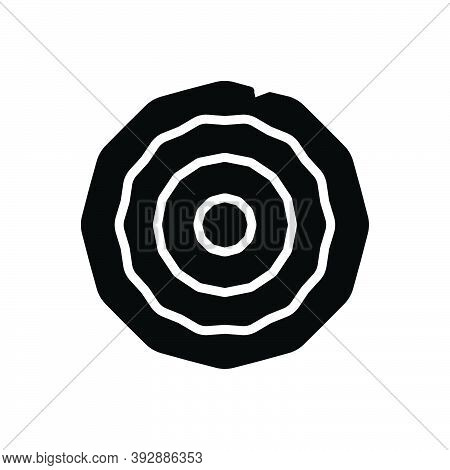 Black Solid Icon For Wood Lumber Timber Forest Jungle Woodwork Trees Fuel Piece-wood