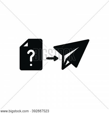 Black Solid Icon For How Message News What Execute Paper-plane