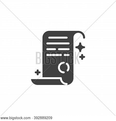 Magic Spell Paper Vector Icon. Filled Flat Sign For Mobile Concept And Web Design. Fantasy Spell Par