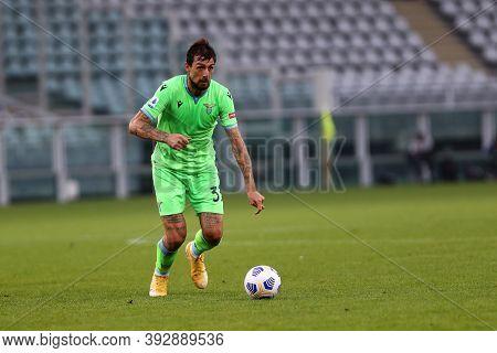 Torino, Italy. 1st November 2020. Francesco Acerbi Of Ss Lazio During The Serie A Match Between Tori