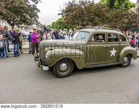 Sainte Mere L'eglise, France - June 6, 2019. Celebration Of The D-day, Armed Landing, End Of World W