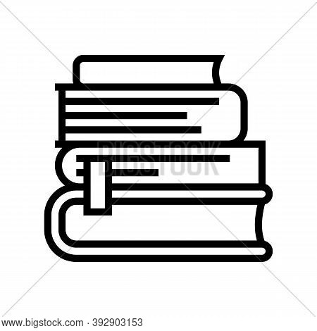 Reading Books Geek Line Icon Vector. Reading Books Geek Sign. Isolated Contour Symbol Black Illustra