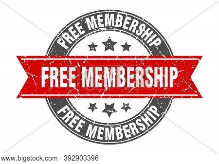 Free Membership Round Stamp With Ribbon. Label Sign
