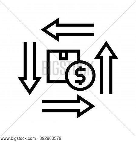 Product Circulation Line Icon Vector. Product Circulation Sign. Isolated Contour Symbol Black Illust