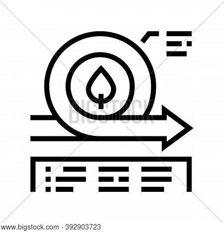 Environmental Circular Economy Line Icon Vector. Environmental Circular Economy Sign. Isolated Conto