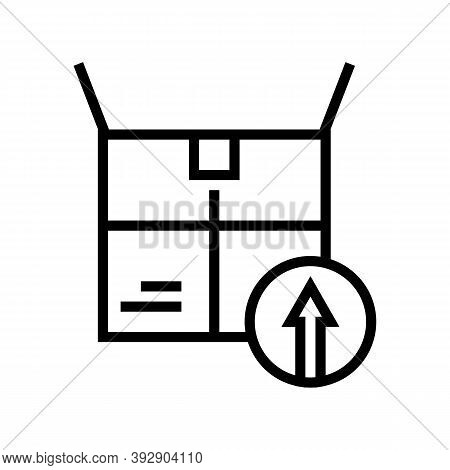 Packaging Linear Economy Line Icon Vector. Packaging Linear Economy Sign. Isolated Contour Symbol Bl
